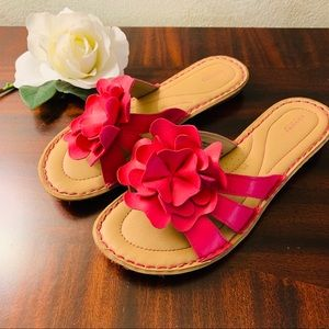 Sonoma Sandals with Cute Pink/Fuchsia Flowers